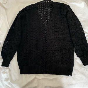 2 for $25 Black Crochet Cardigan